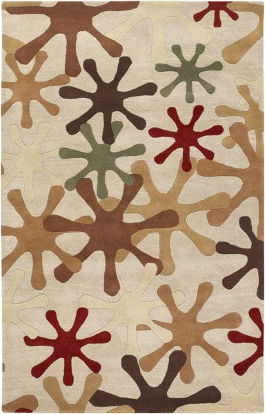 Athena Mocha Rust Chocolate Olive Sea Foam Wool Area Rug - 60 x 96 ATH5019-58