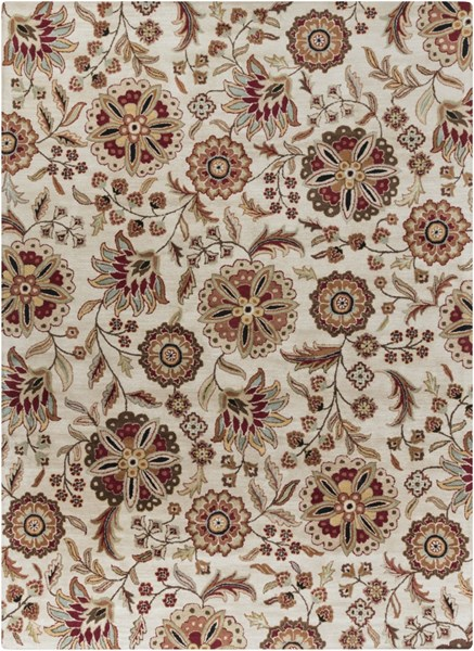 Athena Chocolate Taupe Gold Olive Gray Wool Area Rug - 96 x 132 ATH5035-811
