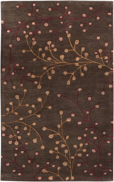 Athena Chocolate Tan Burgundy Taupe Wool Area Rug - 60 x 96 ATH5052-58