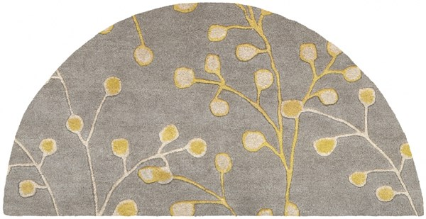 Athena Gray Taupe Gold Wool Hearth Area Rug - 24 x 48 ATH5060-24HM