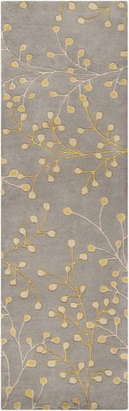 Athena Gray Taupe Gold Wool Runner - 30 x 96 ATH5060-268