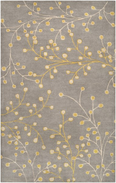 Athena Gray Taupe Gold Wool Area Rug - 60 x 96 ATH5060-58
