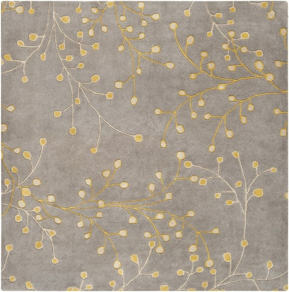 Athena Gray Taupe Gold Wool Square Area Rug - 72 x 72 ATH5060-6SQ