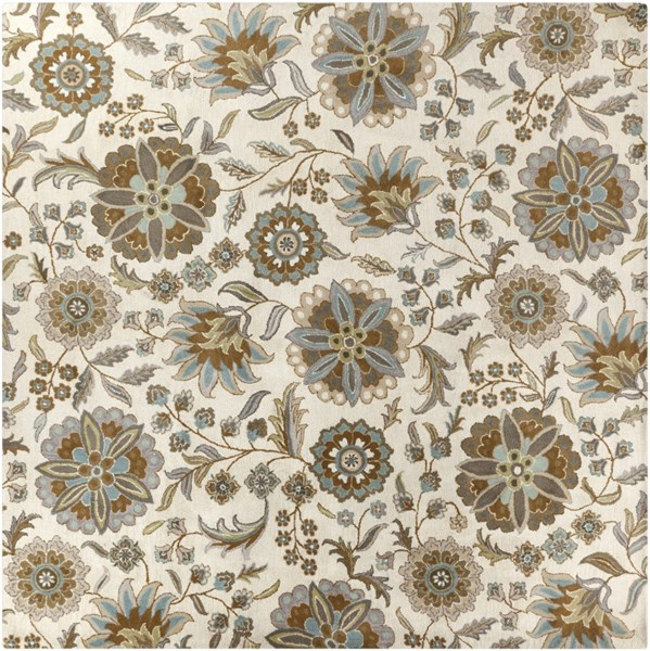 Athena Slate Olive Gray Taupe Beige Wool Square Area Rug - 117 x 117 ATH5063-99SQ