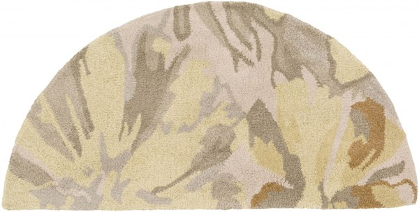 Athena Gold Butter Gray Olive Wool Hearth Area Rug - 24 x 48 ATH5071-24HM