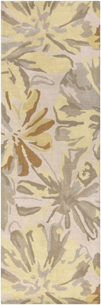 Athena Gold Butter Gray Olive Wool Runner - 30 x 96 ATH5071-268