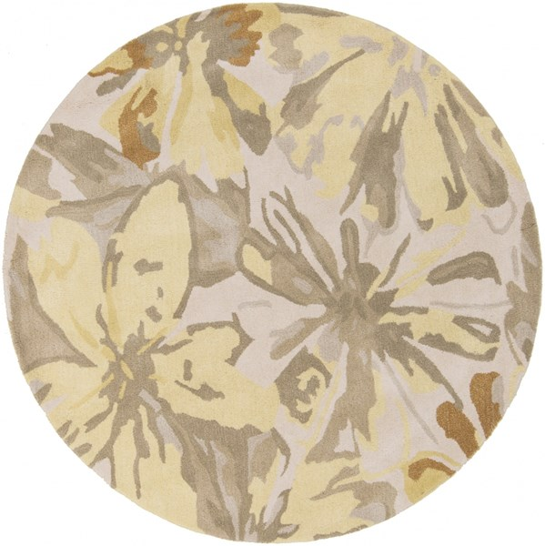 Surya Athena Lime Butter Taupe Tan Wool Round Area Rug - 48x48 ATH5071-4RD