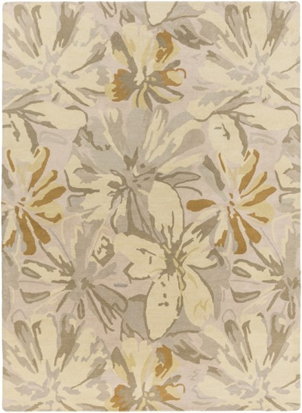 Athena Gold Butter Gray Olive Wool Area Rug - 96 x 132 ATH5071-811