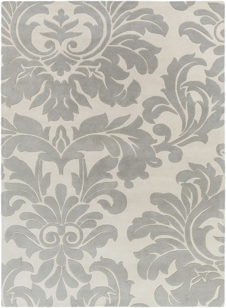 Athena Contemporary Beige Gray Wool Area Rug (L 132 X W 96) ATH5073-811