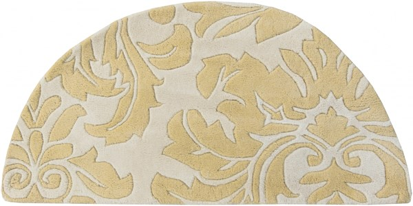 Athena Contemporary Beige Olive Wool Hearth Area Rug (L 48 X W 24) ATH5075-24HM