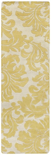 Athena Contemporary Beige Olive Wool Runner (L 96 X W 30) ATH5075-268