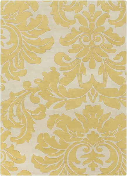 Athena Contemporary Beige Olive Wool Area Rug (L 132 X W 96) ATH5075-811