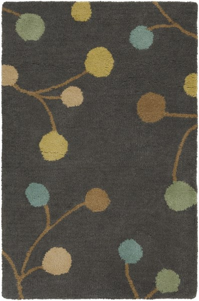 Athena Contemporary Gray Teal Gold Wool Area Rugs 690-VAR1