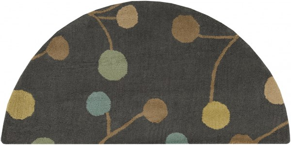 Athena Gray Teal Gold Wool Hearth Area Rug - 24 x 48 ATH5110-24HM