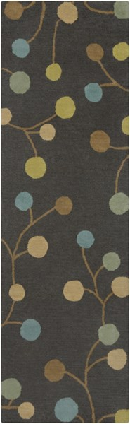 Athena Gray Teal Gold Wool Runner - 30 x 96 ATH5110-268