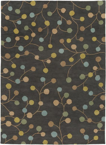 Athena Gray Teal Gold Wool Area Rug - 96 x 132 ATH5110-811