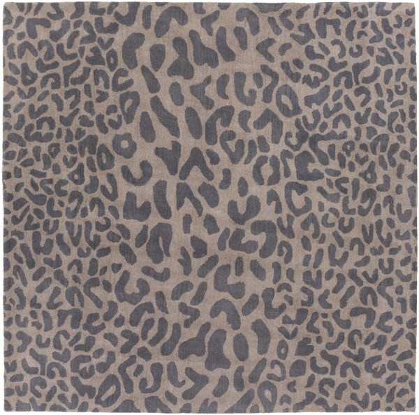 Athena Gray Taupe Wool Square Area Rug - 96 x 96 ATH5114-8SQ