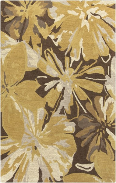 Athena Gold Chocolate Light Gray Taupe Wool Area Rug - 60 x 96 ATH5115-58