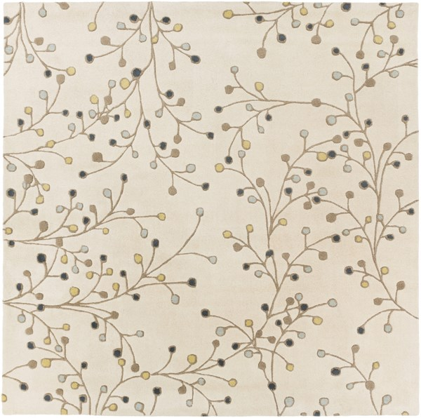 Athena Ivory Taupe Navy Lime Slate Wool Square Area Rug - 96 x 96 ATH5116-8SQ