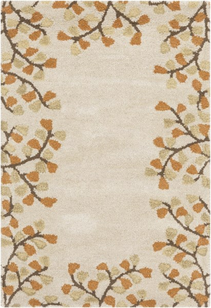 Athena Ivory Chocolate Rust Gold Wool Area Rug 24 X 36