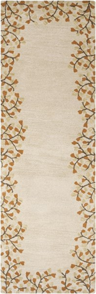 Athena Ivory Chocolate Rust Gold Wool Runner - 30 x 96 ATH5118-268