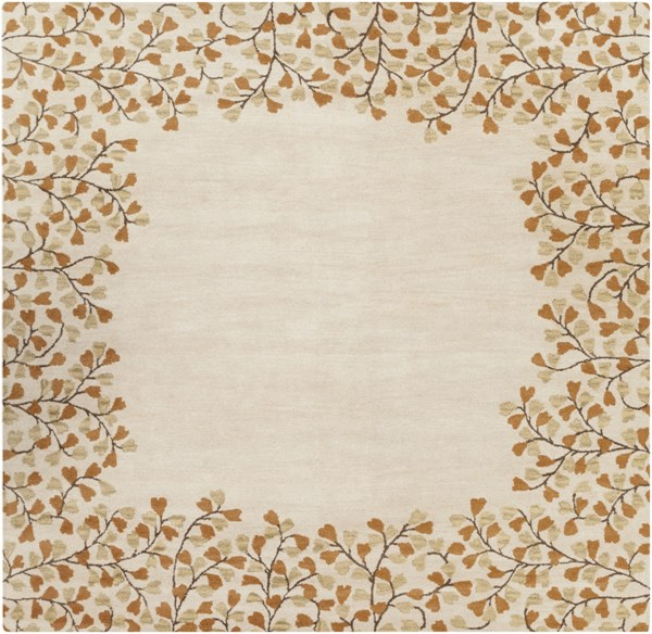 Athena Ivory Chocolate Rust Gold Wool Square Area Rug - 96 x 96 ATH5118-8SQ