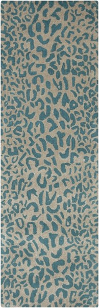 Athena Olive Teal Hand Tufted Fabric Rectangle Runner ATH5120-268