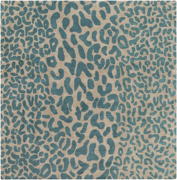 Athena Olive Teal Wool Square Area Rug - 96 x 96 ATH5120-8SQ