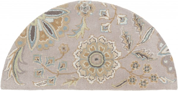 Athena Sky Blue Gold Moss Olive Taupe Wool Hearth Area Rug - 24 x 48 ATH5127-24HM