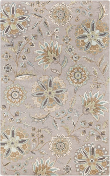Athena Sky Blue Gold Moss Olive Taupe Wool Area Rug - 60 x 96 ATH5127-58