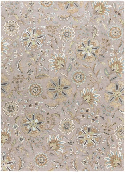 Athena Sky Blue Gold Moss Olive Taupe Wool Area Rug - 96 x 132 ATH5127-811