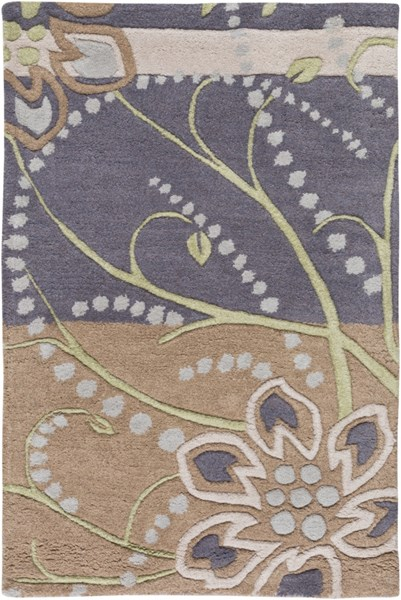 Athena Taupe Light Gray Olive Beige Wool Area Rug - 24 x 36 ATH5128-23