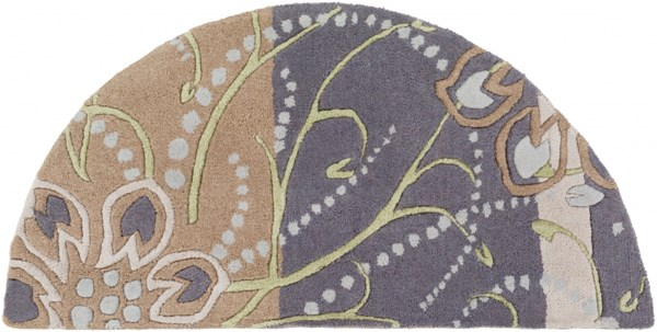 Athena Taupe Light Gray Olive Beige Wool Hearth Area Rug - 24 x 48 ATH5128-24HM
