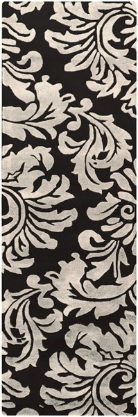 Athena Contemporary Black Ivory Wool Runner (L 96 X W 30) ATH5131-268