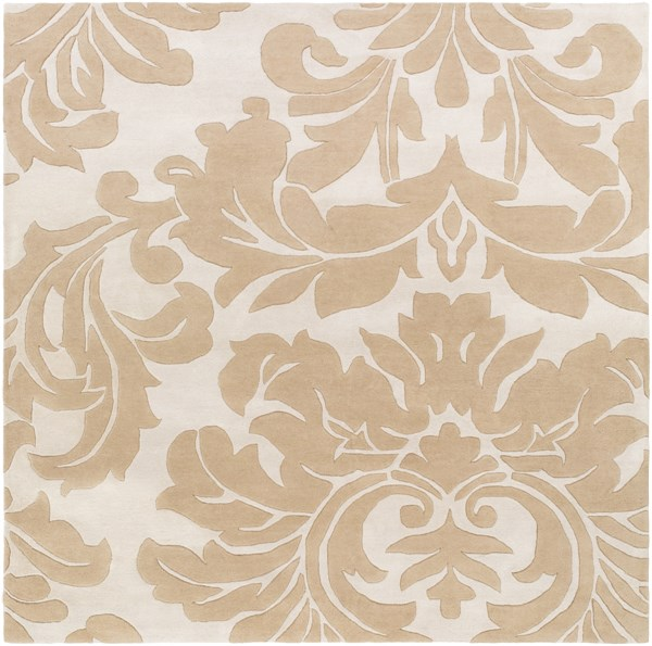 Athena Contemporary Taupe Gray Wool Square Area Rug (L 96 X W 96) ATH5133-8SQ