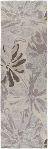 Surya Athena Taupe Gray Charcoal Camel Wool Runner - 96x30 ATH5135-268