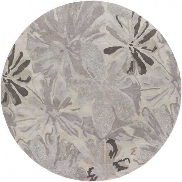 Athena Mauve Gray Charcoal Taupe Wool Round Area Rug - 96 x 96 ATH5135-8RD
