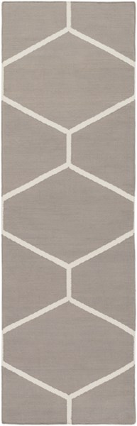 Atrium Contemporary Taupe Ivory Fabric Geometric Runner (L 96 X W 30) ATM3008-268