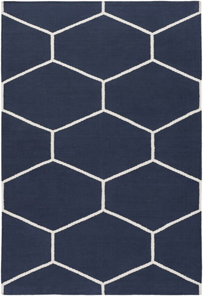 Atrium Navy Ivory Cotton Area Rug - 60 x 90 ATM3012-576