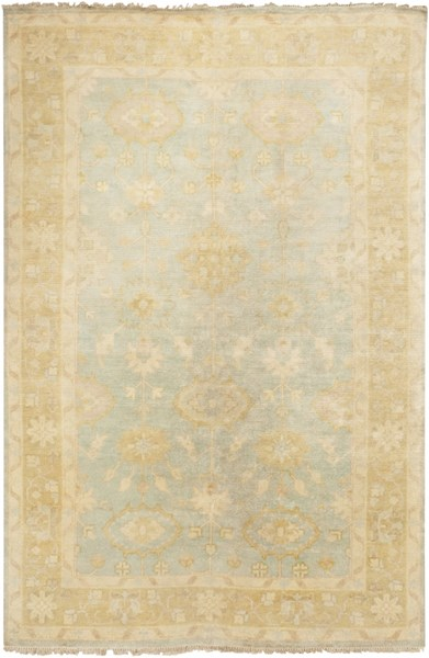 Antique Traditional Moss Beige Slate Wool Area Rug (L 102 X W 66) ATQ1005-5686