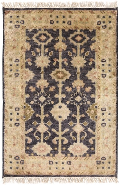 Antique Traditional Black Olive Rust Wool Area Rug (L 36 X W 24) ATQ1007-23