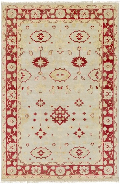 Antique Traditional Beige Gold Olive Wool Area Rug (L 102 X W 66) ATQ1009-5686