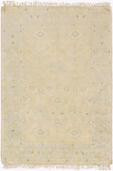 Antique Traditional Beige Olive Ivory Wool Area Rug (L 36 X W 24) ATQ1011-23