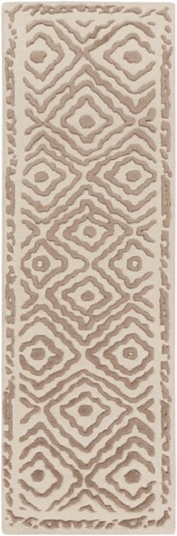Atlas Traditional Taupe Beige Wool Runner ATS1006-268