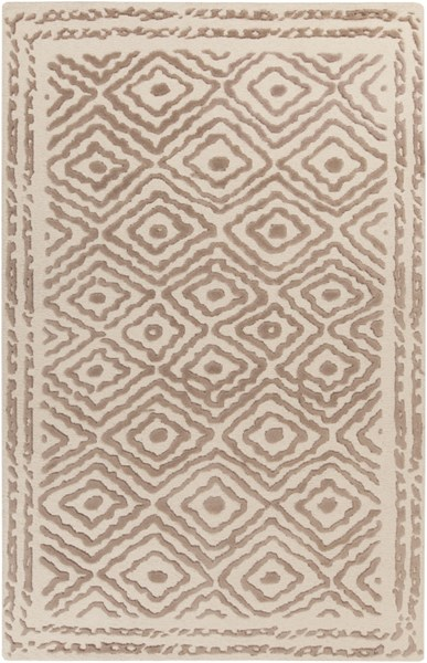 Atlas Traditional Taupe Beige Wool Area Rug ATS1006-58