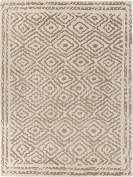 Atlas Taupe Beige Wool Area Rug - 96 x 132 ATS1006-811