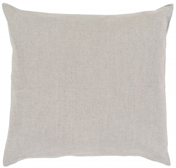 Audrey Pillow with Down Fill in Light Gray - 22 x 22 x 5 AU001-2222D