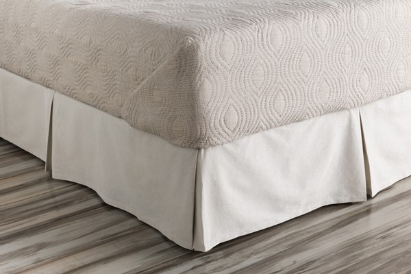 Audrey Metallic Cotton Linen California King Bed Skirt - 84x72x15 AUD4000-CSKT