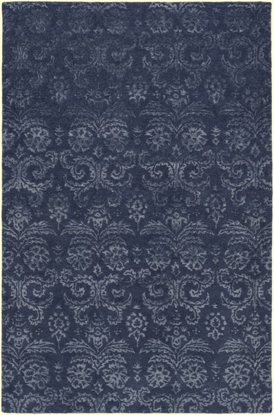Surya Avignon Navy Sage Viscose Wool Area Rug - 72x48 AVI2003-46