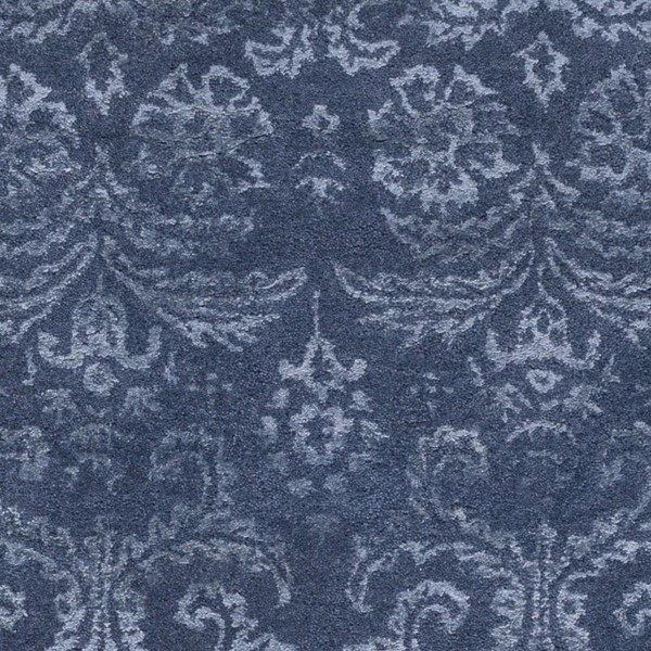 Surya Avignon Navy Sage Viscose Wool Area Rug - 18x18 AVI2003-1616
